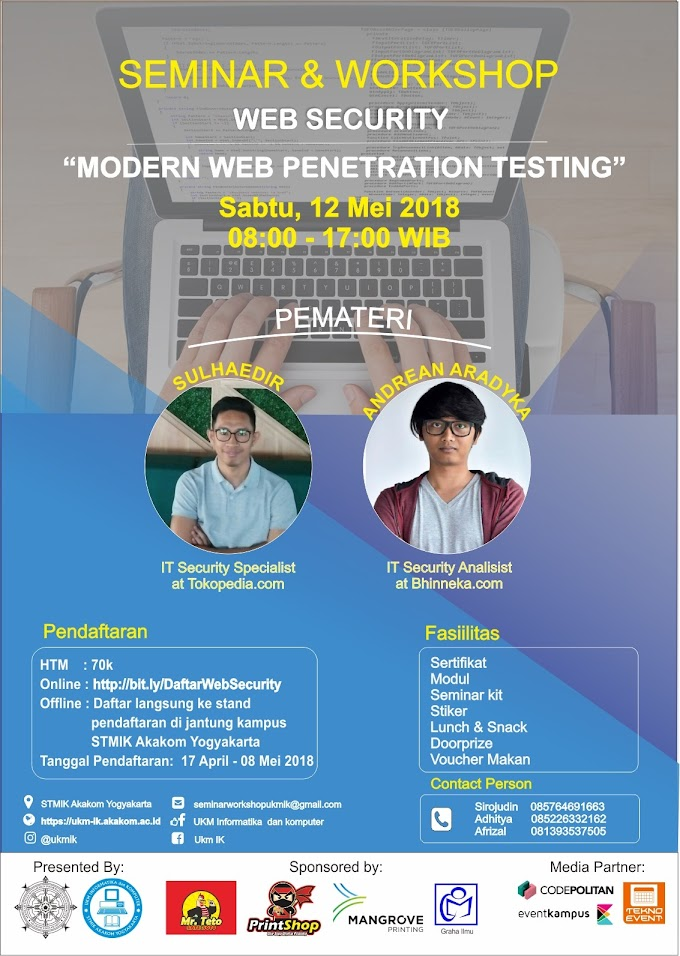 Seminar & Workshop Web Security Modren Web Penetration Testing