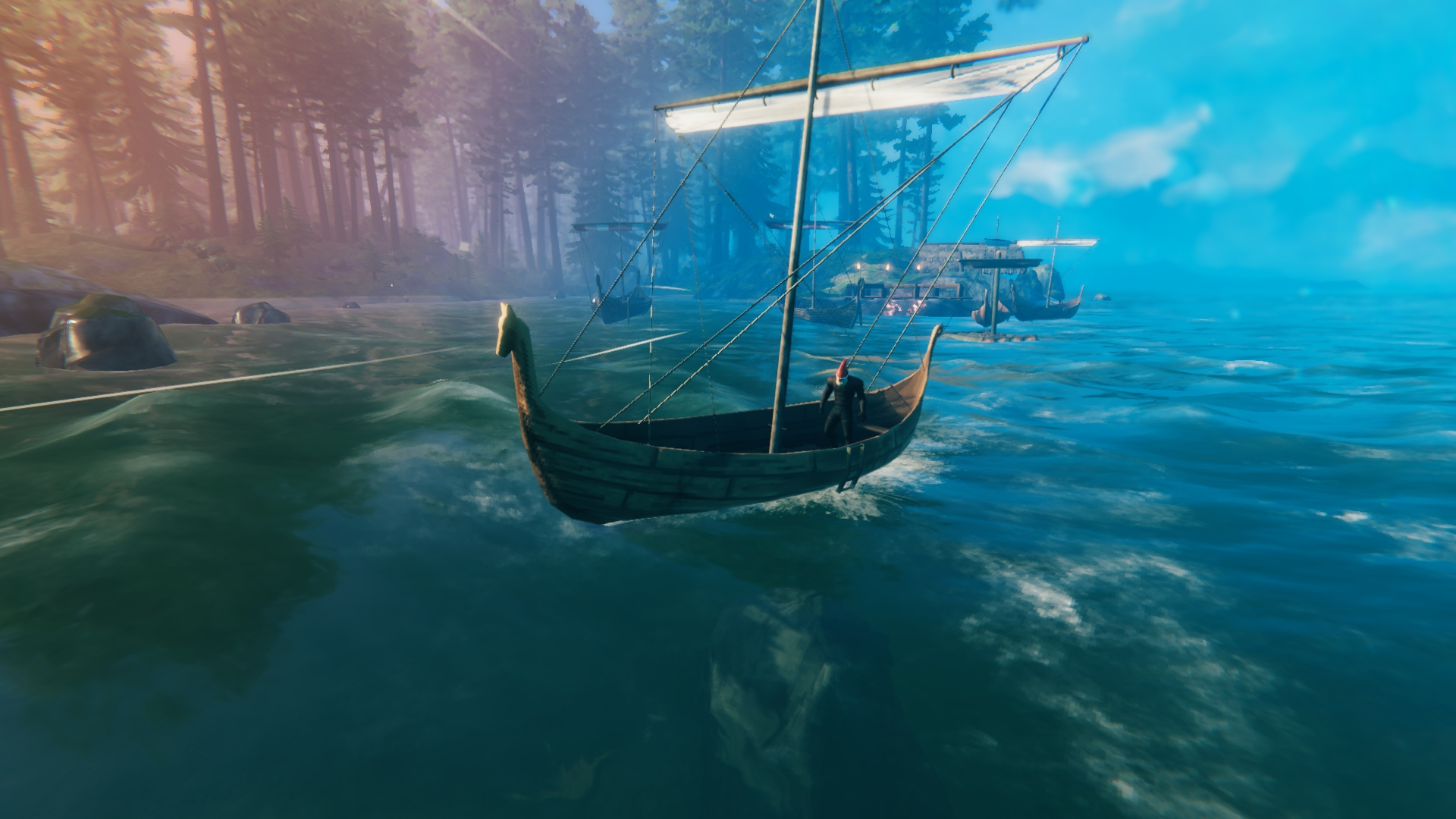 How to build a sailboat in Valheim