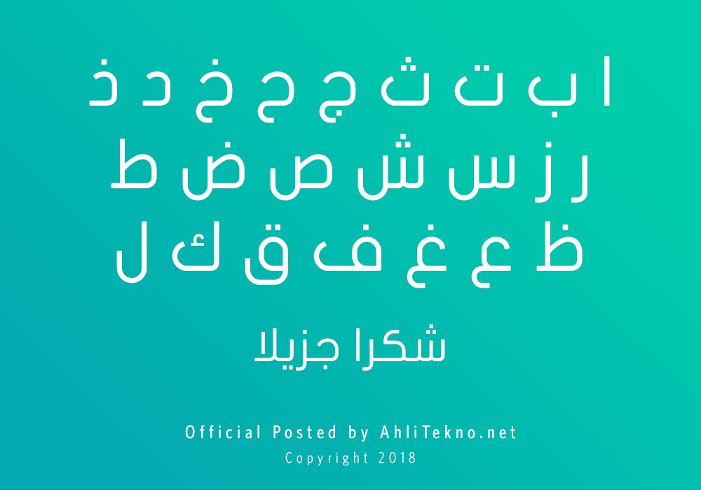 kumpulan font typography arabic keren (JF Flat)