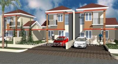 Contoh desain rumah bertingkat minimalis type 77