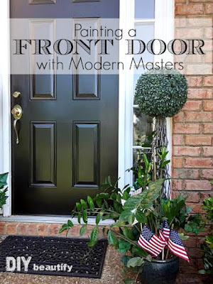 Front Door Makeover with Black Paint | DIY beautify