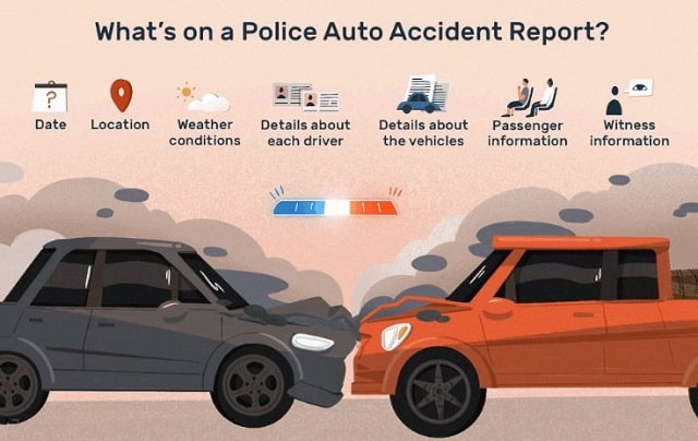 what's included car accident police report