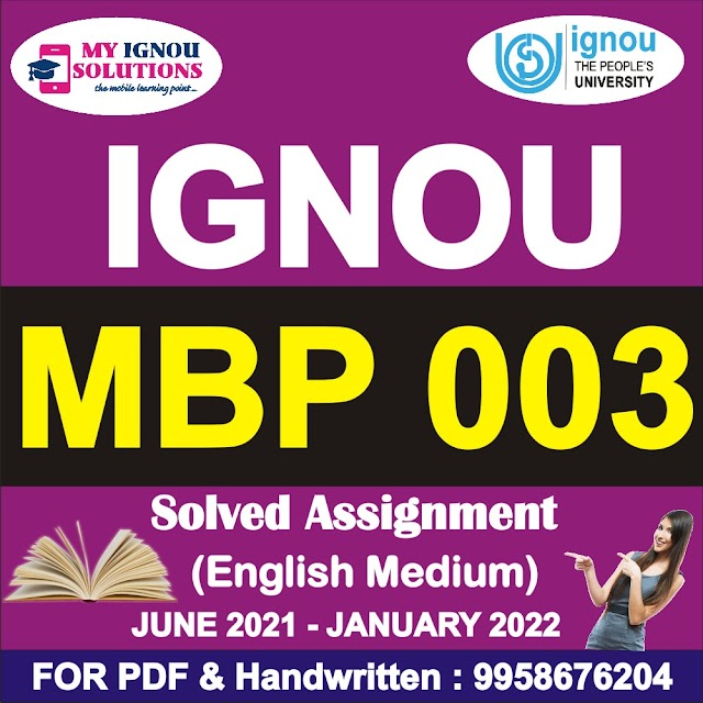 MBP 003 Solved Assignment 2021-22