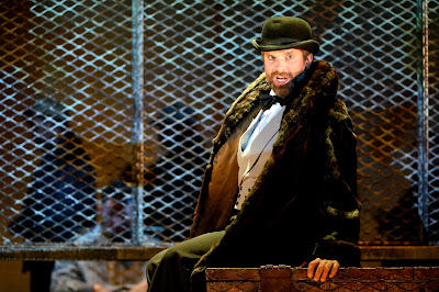 Weill: The Silver Lake -  James Kryshak as the Lottery Agent - English Touring Opera (photo Richard Hubert Smith)