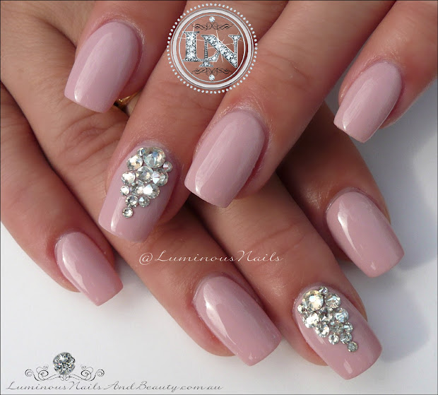 Nails with Swarovski Crystal