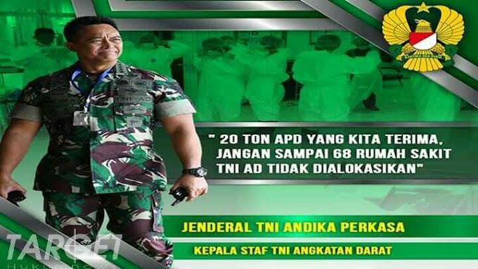 Kasad Jenderal TNI Andika Perkasa : Pendistribusian APD dan Logistik, Solusi Atasi Krisis Covid-19