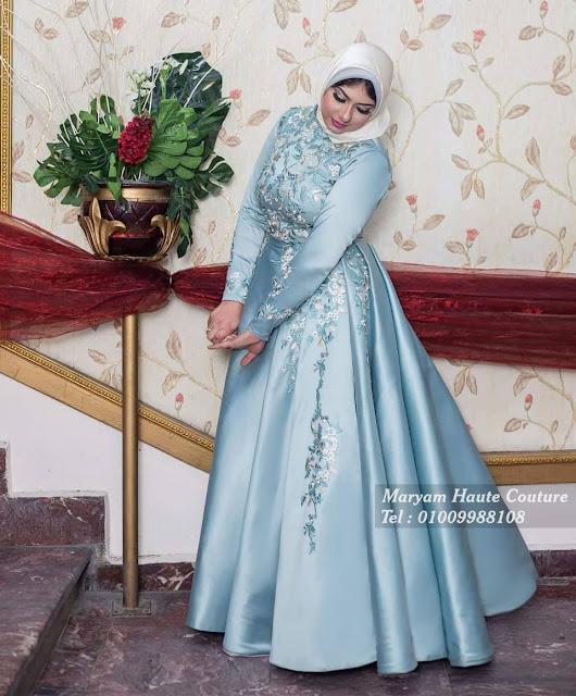 فستان سهرة محجبات | Evening Hijab Dress