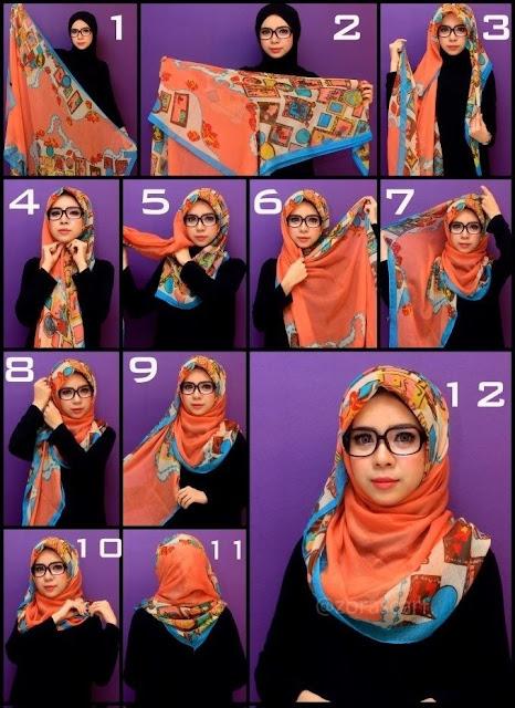 Tutoriel de Hijab Avec Lunette de Vue