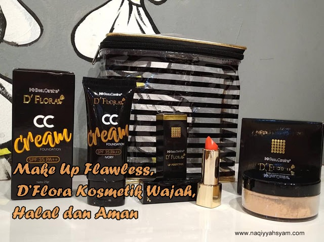 make up flawless dengan dflora kosmetik
