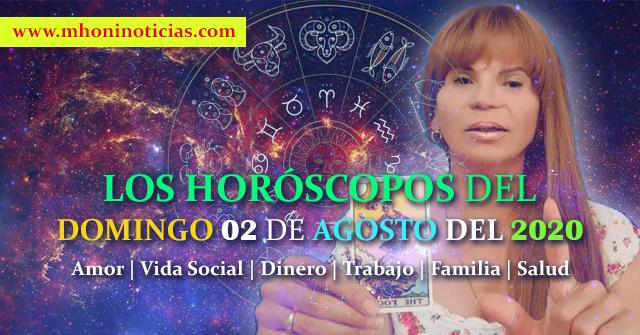 Los Horóscopo del DOMINGO 02 de AGOSTO del 2020 - Mhoni Vidente