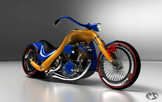 Motocicletas muy creativas hechas en 3D max