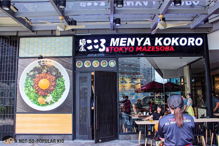 Menya Kokoro in Uptown Mall, BGC