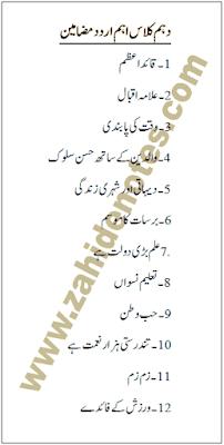 10th class the most important urdu essay topics 2020