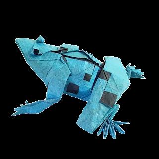 poison-dart-frog-origami