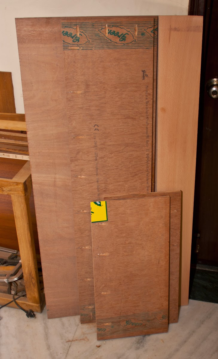 Tools Cabinet with Plywood and Assorted Wood