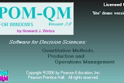 POM QM For Windows | Software Andalan Untuk Peramalan Bisnis