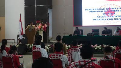 Beri Arahan, Wagub Kandouw Beri Uang Saku Atlet PON XX Papua