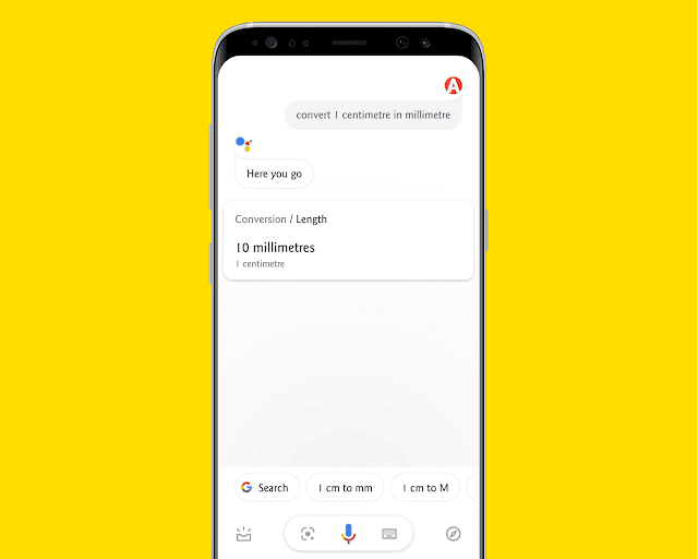 Currency And Unit Conversions with google assistant