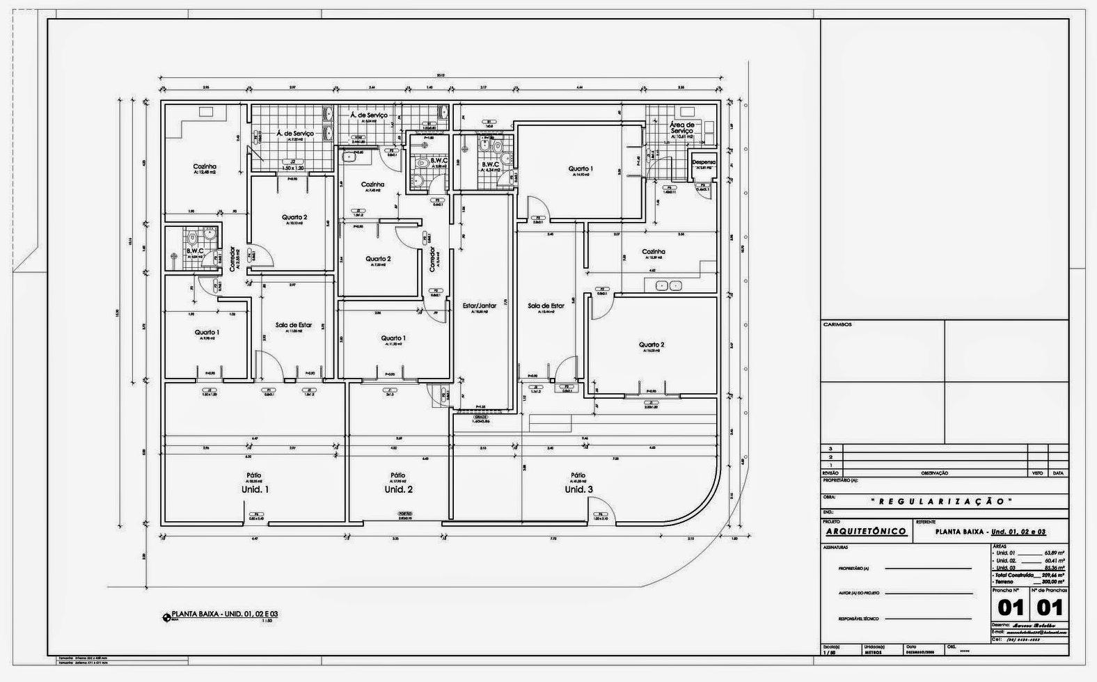 Projeto Residencial - Arquitetura (Multifamiliar)