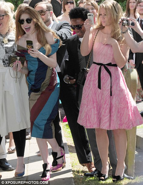 You're not Aloud to upstage the bride! Nicola Roberts and