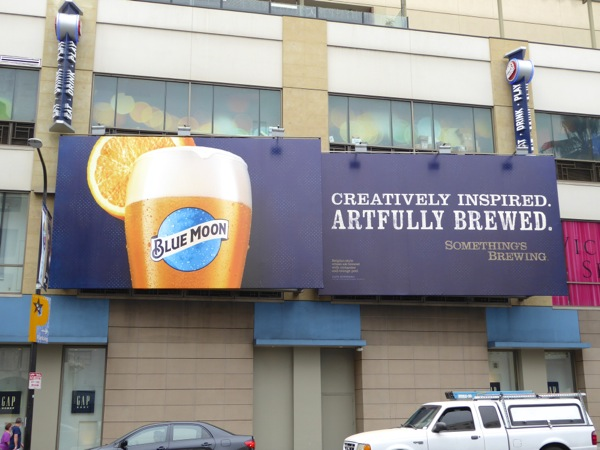Blue Moon Creatively inspired Artfully brewed billboard