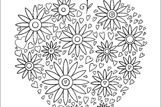 Valentine's day coloring pages, printable pages, free coloring ... | 220x330