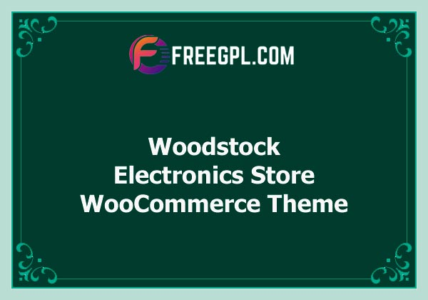 Woodstock 2.2 – Electronics Store WooCommerce Theme Free Download