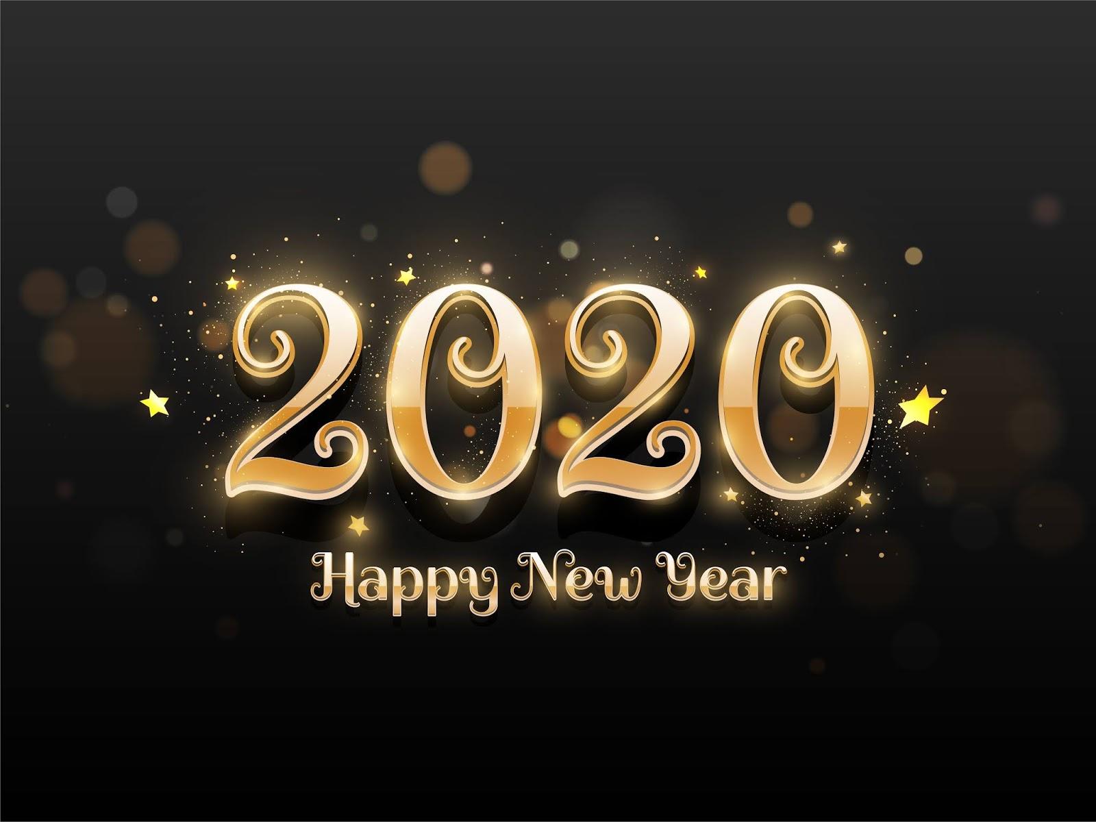 2020, Happy New Year, 4K, 5K, Celebrations,  New Year