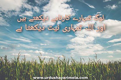 Sms Urdu Poetry/Log Tumhare Karname Dekhte Hai/Urdu Poetry