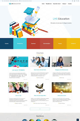 LMS Education Blogger Template
