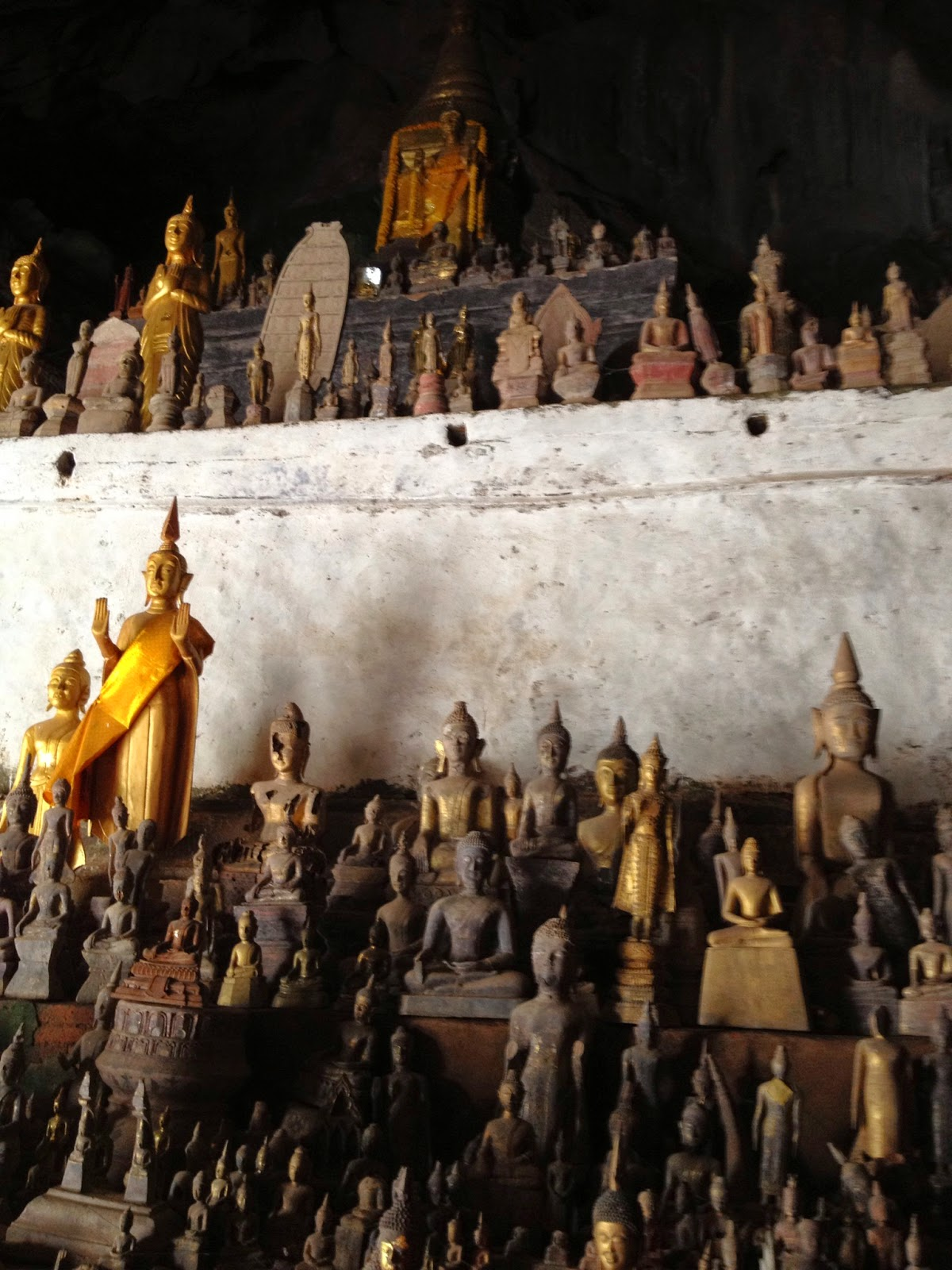 Luang Prabang - The first cave housed hundreds of small buddhas