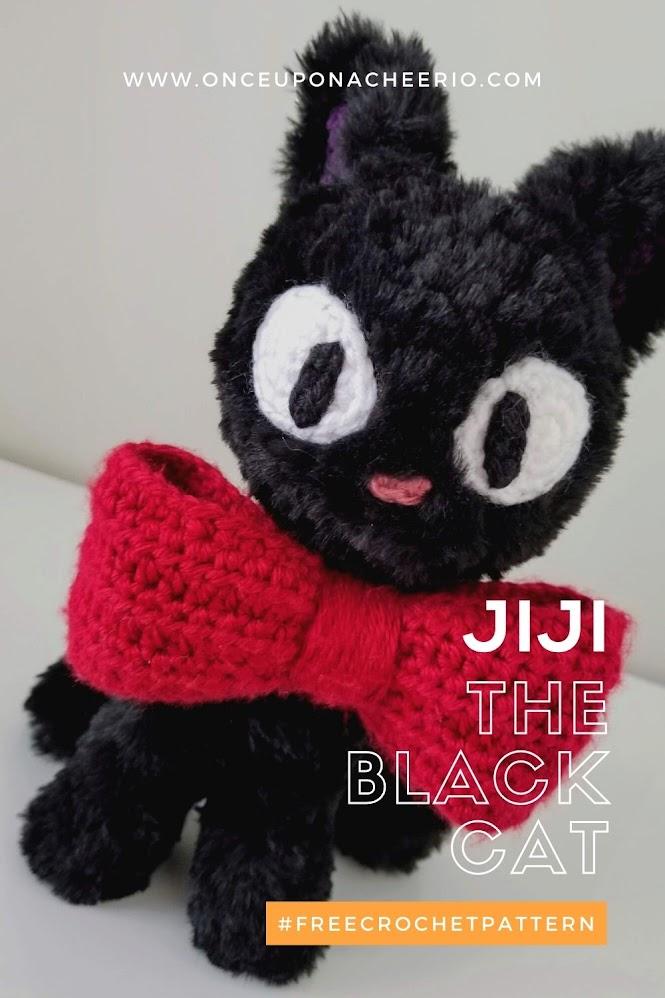Kiki's Delivery Service Halloween Black Cat Jiji Plush Amigurumi FREE Crochet Pattern