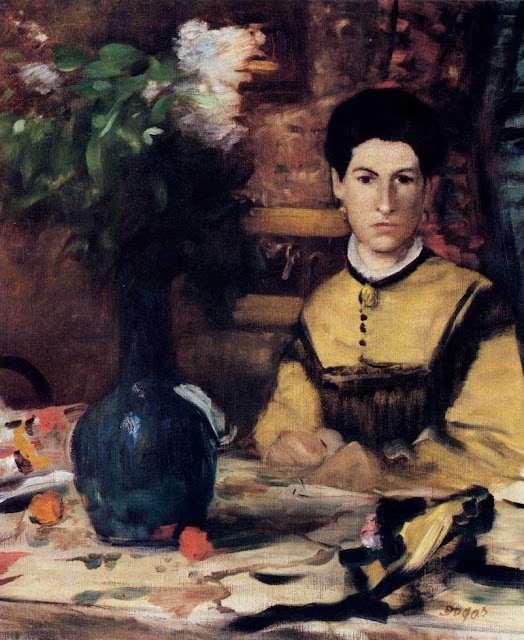 Эдгар Дега - Портрет мадам де Рютте (ок.1875)
