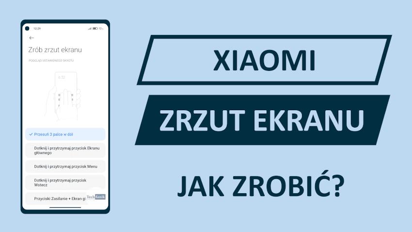 Xiaomi MIUI Jak zrobić zrzut ekranu?