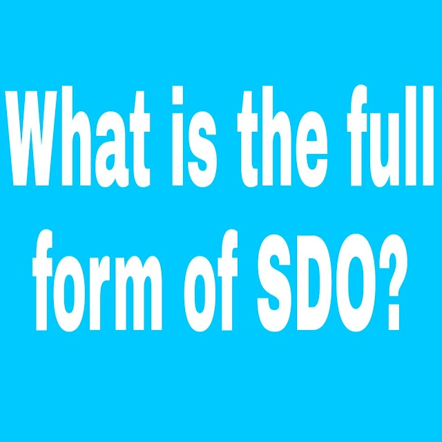What is the Full Form of SDO? SDO Full Form