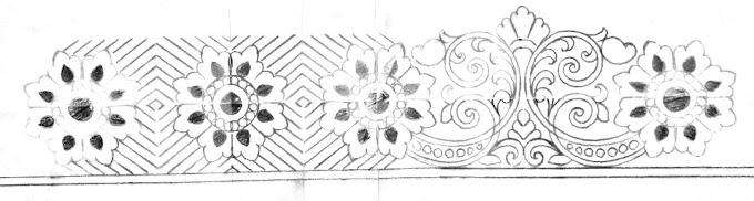 Saree ka kinara/saree border designs hand works/border drawing designs