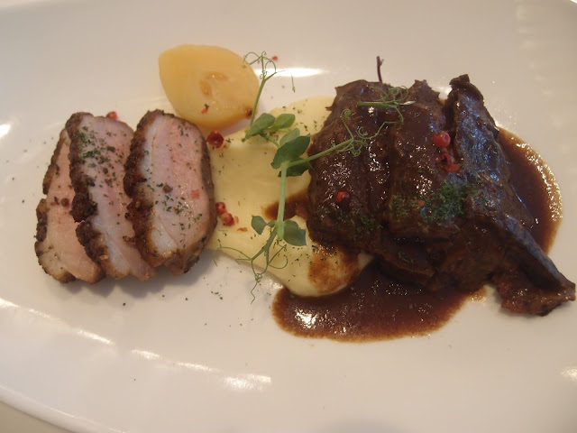beef cheek and duck breast
