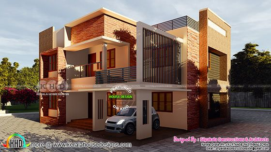 2468 square feet modern contemporary house architecture plan