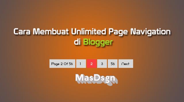 Cara Memasang Unlimited Page Navigation di Blogger