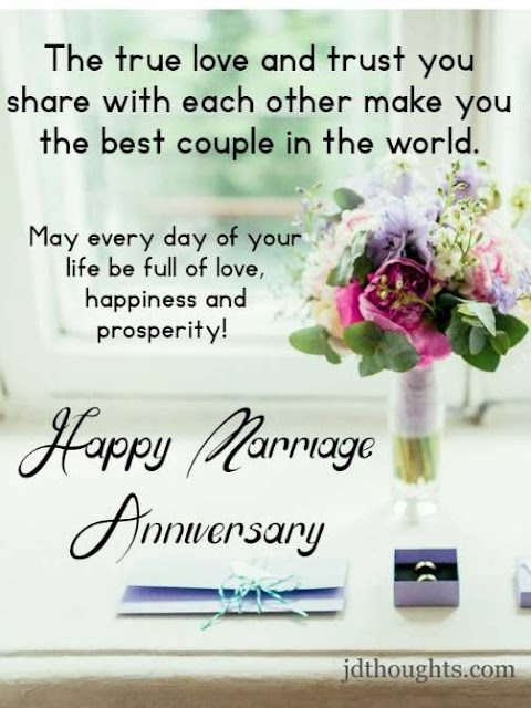 Happy anniversary to couple