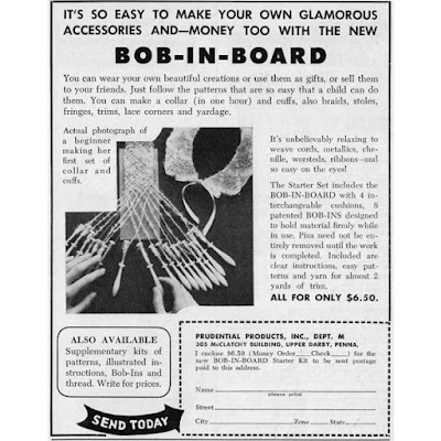Vintage 1955 Bob N Board Advertisement