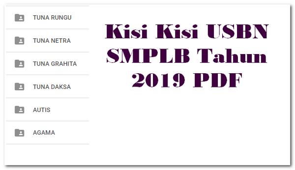 Kisi Kisi USBN SMPLB Tahun 2019 PDF