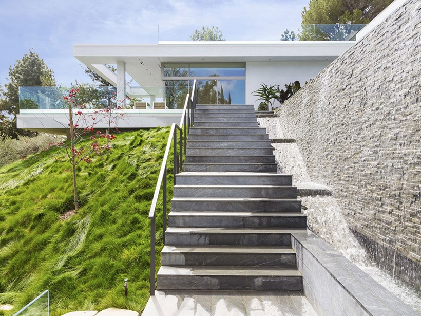 Stairs to the modern home