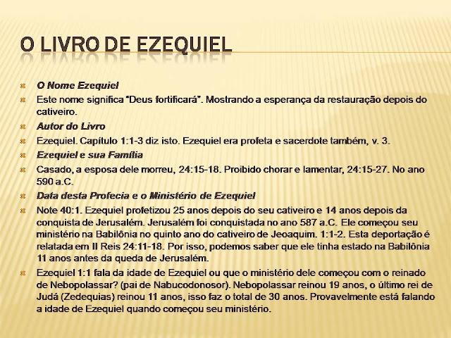 Resultado de imagem para Apologia ao Livro de Ezequiel