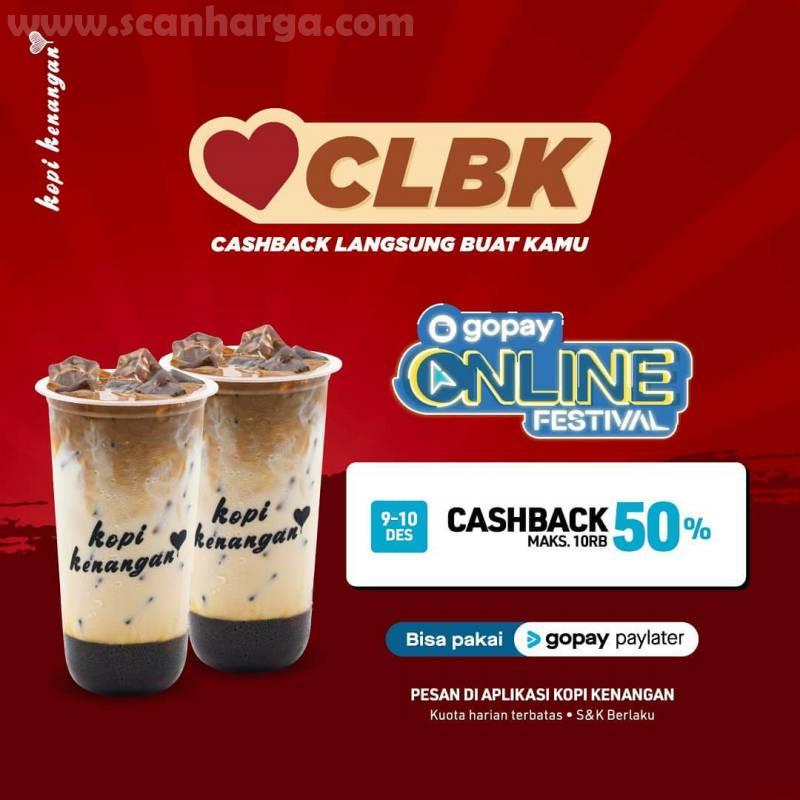 Promo Kopi Kenangan Spesial CLBK - Cashback 50% - 60% pakai Gopay & Shopeepay