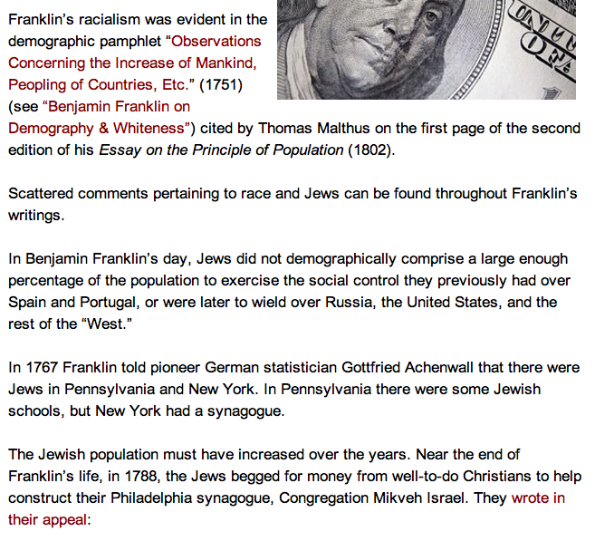 crimes of the times was benjamin franklin anti semitic  but consider this from our friends at counter current