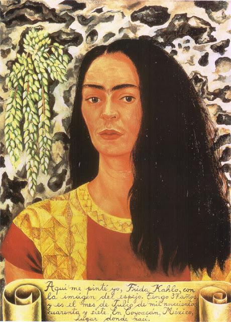 Фрида Кало - Автопортрет с распущенными волосами. 1947