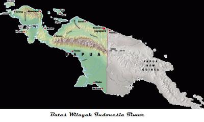 Batas wilayah Indonesia bagian timur