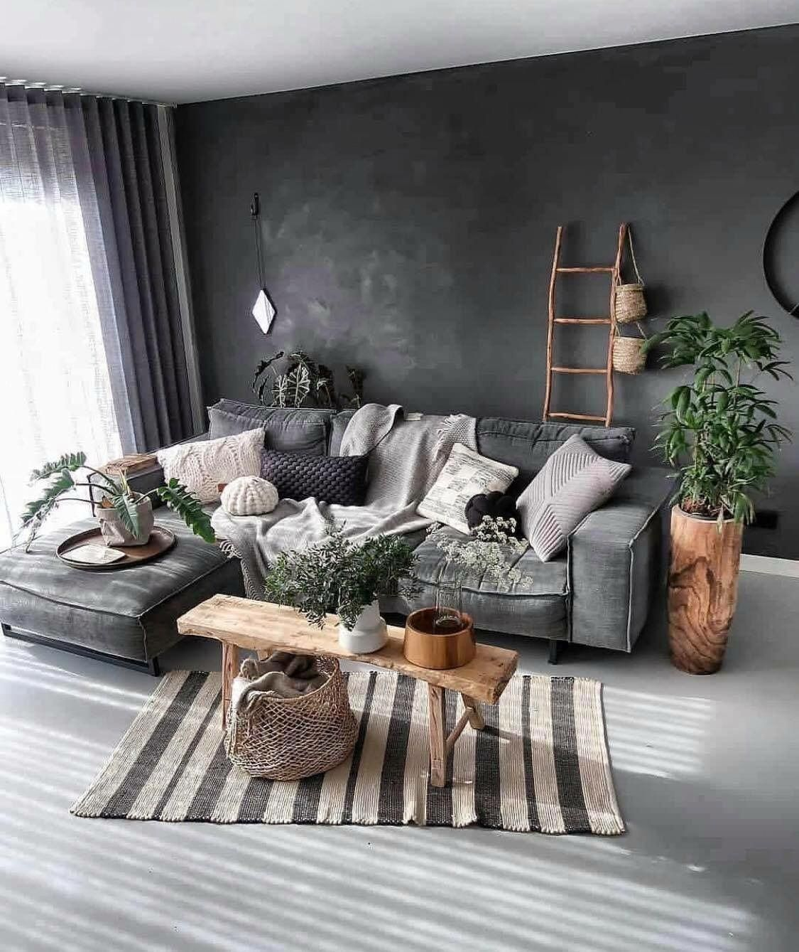 unique grey living room interior design