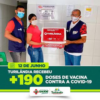 Turilândia recebe mais vacina contra a Covid-19